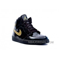Nike Air Jordan 1 (I) Retro Black / Gold Authentic
