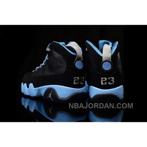 Girls Air Jordan 9 Slim Jenkins Black Blue Cheap Sale Free Shipping