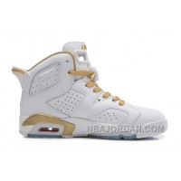 "Air Jordans 6 Retro ""Gold Medal"" White/Gym Red-Metallic Gold-Sail For Sale Christmas Deals"