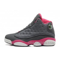 Girls Air Jordan 13 Retro GS Cool Grey/Fusion Pink-White For Sale Online Free Shipping