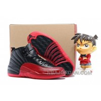 "2016 Air Jordan 12 ""Flu Game"" Black/Varsity Red Super Deals"