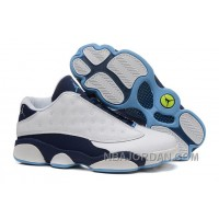 """2015 Air Jordan 13 Low """"Hornets"""" White-Midnight Navy Cheap For Sale Free Shipping"""