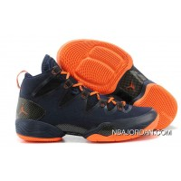 Buy 100% Authentic Michael Jordan 28 Shoes Navy Orange Free Shipping