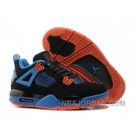 Nike Air Jordan 4 Womens Basketball Shoes Black/Blue/Orange Free Shipping