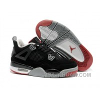Nike Air Jordan 4 Womens Basketball Shoes Black/Red/Grey Top