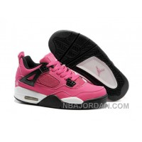 Nike Air Jordan 4 Womens Basketball Shoes Pink/White Top