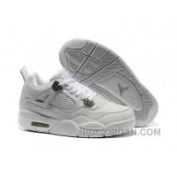 Nike Air Jordan 4 Womens Basketball Shoes White For Sale
