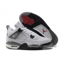 Nike Air Jordan 4 Womens Basketball Shoes White/Black/Grey Hot