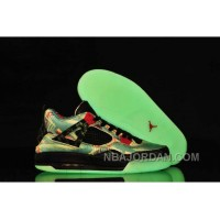 Nike Air Jordan 4 Womens Maple Glow Limited Edition Black Blue Red Shoes Online