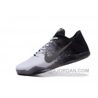 Kobe 11 Low Black And White Grey Shoes For Sale