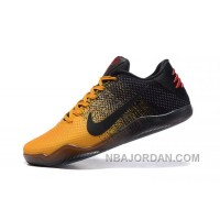 Men Nike Kobe 11 Low Yelow Black And Red Size Us 7 To Us 12 Top Deals