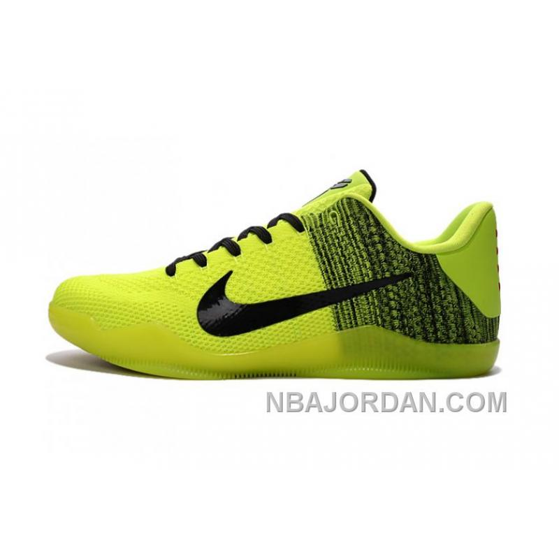 nike kobe 11 greenblackvolt basketball shoes for sale