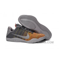 "Kobe 11 Elite Low ""Cool Grey"" Mens Basketball Shoes Christmas Deals"