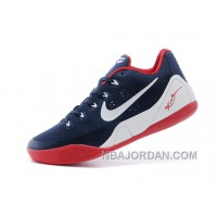 Nike Kobe 9 Low EM Navy Blue/White-Red For Sale Online Christmas Deals