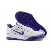 "Nike Kobe 9 EM ""Home"" White/Court Purple For Sale Authentic 15062"