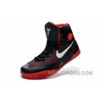 Womens NK Kobe 9 Elite High Top Girls Black/Varsity Red-White Online For Sale Super Deals