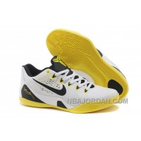 Nike Kobe 9 Low EM White Black Yellow For Sale Super Deals