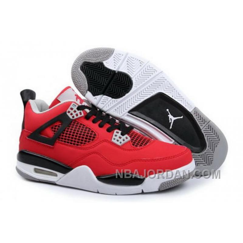 nike air jordan 4 iv mens shoes red black