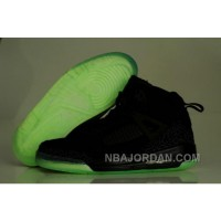 Purchase 2012 Air Jordan Spizike 3.5 Retro Mens Shoes Glowing Black Outlet Online