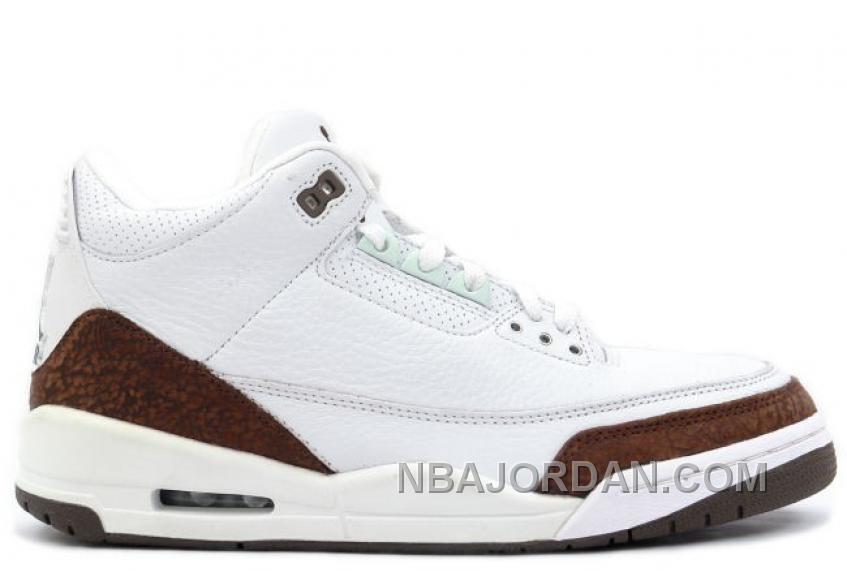 136064 121 Air Jordan 3 Retro Mens Basketball Shoes White Mocha A03010 Lastest