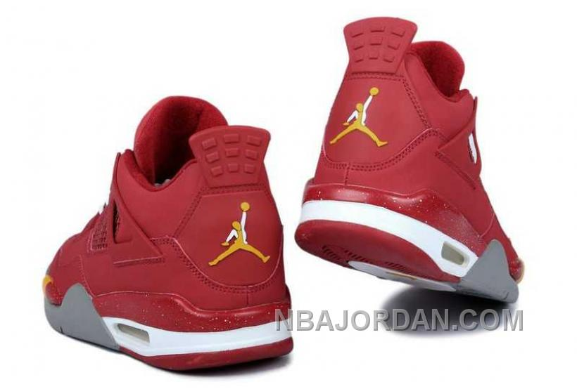 Nike Air Jordan 4 Mens King Collect Edition Red Grey Shoes